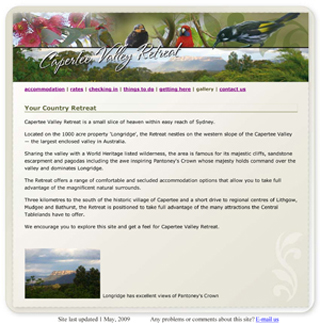 Capertee Valley Retreat Website