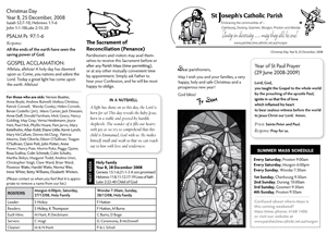 St Josephs Catholic Parish Murgon Newsletter
